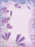 kortet blommar hälsningspink Royaltyfri Foto