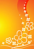 kortet blommar orangen Arkivfoto