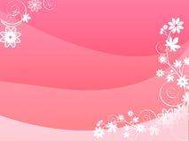 kortet blommar red royaltyfri illustrationer