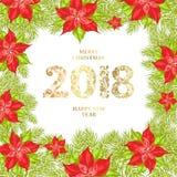 Kortet för glad jul Royaltyfri Fotografi
