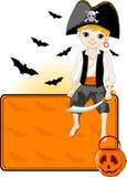 kortet halloween little piratkopierar stället Royaltyfri Fotografi