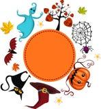 kortet helloween Fotografering för Bildbyråer