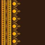 Kortet med guld- snör åt på den mörka bakgrunden vektor illustrationer