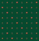 Kortet passar i guld- Rim Seamless Pattern Arkivfoto