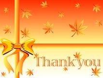 kortet tackar dig Royaltyfri Foto