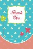kortet tackar dig Royaltyfri Fotografi