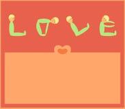 kortförälskelse vektor illustrationer
