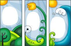kortfjädersommar Vektor Illustrationer
