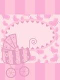 kortflickahälsning little Royaltyfria Bilder