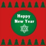 Korthälsning för nytt år Arkivbild