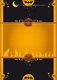 korthälsning halloween stock illustrationer