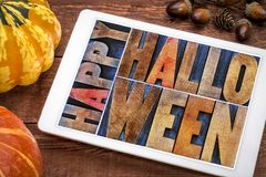 korthälsning lyckliga halloween Royaltyfri Foto