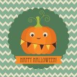 korthälsning lyckliga halloween Royaltyfri Bild
