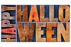 korthälsning lyckliga halloween Arkivfoto
