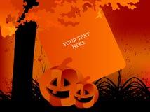 korthälsning lyckliga halloween royaltyfria bilder