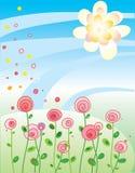 korthälsningsillustration royaltyfri illustrationer
