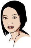 Kortharige Aziatische vrouw Royalty-vrije Stock Foto's