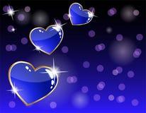 korthjärta som sparkling Arkivbilder