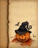 korthälsning halloween Arkivfoton
