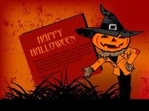 korthälsning lyckliga halloween Arkivfoton
