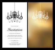kortinbjudan Royaltyfri Bild