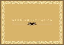 kortinbjudanbröllop Royaltyfri Fotografi
