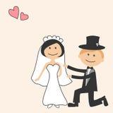 kortinbjudanbröllop Arkivfoto