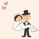 kortinbjudanbröllop Arkivfoton