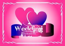 kortinbjudanbröllop royaltyfri illustrationer