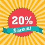 20% korting Stock Afbeeldingen