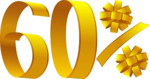 Korting - 60 percenten stock illustratie