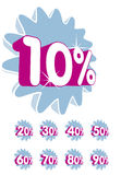 Korting - percentage vector illustratie