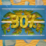 Korting 30% van de de zomerverkoop Royalty-vrije Stock Foto