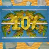 Korting 10% van de de zomerverkoop Royalty-vrije Stock Afbeeldingen