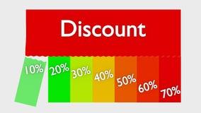Korting of verkoop Royalty-vrije Stock Afbeeldingen