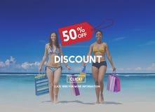 Kortings Half Prijs Marketing Bevorderingsconcept Van de consument royalty-vrije stock foto