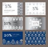 Kortingskaarten Royalty-vrije Stock Foto's