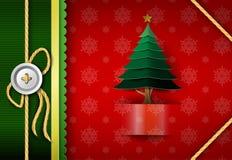 kortjul som greeting Glatt märka för jul royaltyfri illustrationer