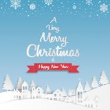 kortjul som greeting lyckligt glatt nytt år Snöflinga med vektor illustrationer