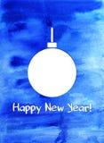 kortjul som greeting nytt år Royaltyfri Fotografi