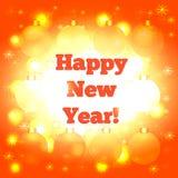 kortjul som greeting nytt år Arkivbilder