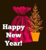 kortjul som greeting nytt år Royaltyfria Bilder