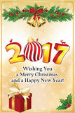 kortjul som greeting nytt år Arkivfoton