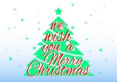 kortjul som greeting Vi önskar dig glad jul Arkivbild