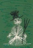 kortjul som visar snowmanen Arkivfoto