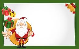 kortjulclaus hälsning santa Arkivfoto