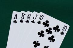 kortklubbor spolar leka kunglig person Royaltyfria Foton