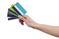 kortkrediteringsbetalning Royaltyfri Fotografi
