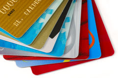 kortkrediteringsbunt Arkivbild