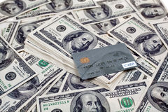 kortkrediteringsdollar Arkivbild